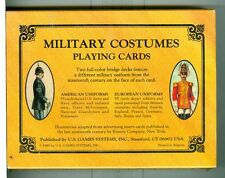 """Two Sealed Decks Playing Cards """"Military Costumes"""" US Games,1989, Non-Stndard"""