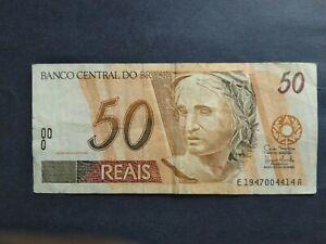 BRAZIL 50 REAIS ND BANKNOTE
