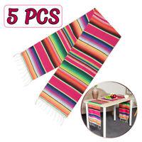 5x Mexican Serape Table Runner Tablecloth Cotton Festival Party Home Decor Shawl