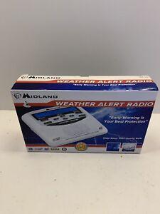 Midland WR120 NOAA Emergency Weather Alert Radio with Alarm Clock White