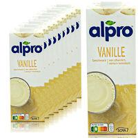 Alpro - 10 x Sojadrink Vanille 1 Liter - Vanilla Soya Soja Drink 100% pflanzlich
