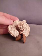 an Art Deco Crotchet Hat Shaped Thimble holder and Needle Case Sewing Tool