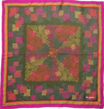 -Superbe foulard TED LAPIDUS soie TBEG vintage scarf  67 x 70 cm