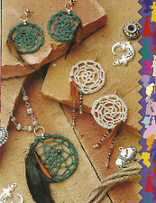 Crochet Pattern ~ DREAM CATCHER JEWELRY Earrings & Pendant ~ Instructions