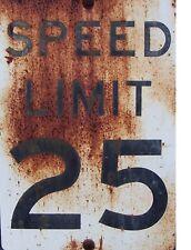"TIN SIGN ""Speed Limit Rust""  Highway Deco  Garage Wall Decor"