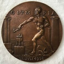 XI Olympic Games Berlin, 1936 cast Bronze Commemorative Medallion by Karl Goetz