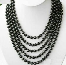 Necklace 100 Inch Aaa 6-6.5mm Tahitian Black Pearl