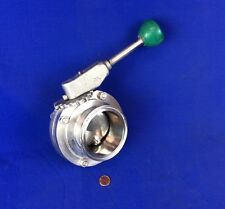 """TRI-CLOVER STAINLESS STEEL 3"""" BUTTERFLY VALVE, GEAR LOCK HANDLE"""