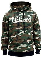 New Men/'s No Weakness Camo Hoodie Fitness Gym Bodybuilding Workout Lifting V403