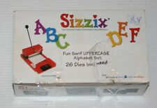 Sizzix FUN SERIF Uppercase Alphabet Die Cut Collection 26 Die Lot A-Z Letter Set