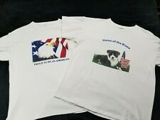 Proud To Be An American & Home Of The Brave Spca Shirts men's size Large