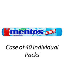 MENTOS SOFT MINT CHEWY DRAGEES 38g x 40 INDIVIDUAL PACKETS MINTS WHOLESALE 7689