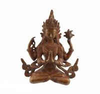 Soprammobile Tibetano Chenresig Bodhisattva Avalokiteshvara 18 CM 1kg300 4450 X6
