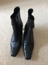 GABOR LEATHER ANKLE BOOT - BLACK - SIZE 4.5 - EXCELLENT CONDITION