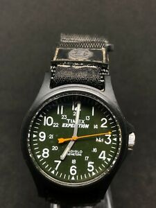 Timex EXPEDITION Indiglo Gents Watch With Original Black Fabric Strap