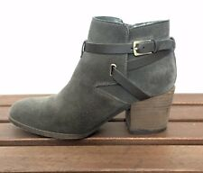 Crown Vintage Gray Suede Ankle Booties- Size 8M
