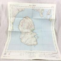1962 Vintage Militare Mappa Di Isola Di Arran Scozia Scozzese Firth Di Clyde