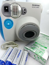Fujifilm Instax Mini 7s Instant Film Camera - White/Blue - with new 10 film pack