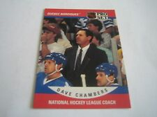 1990/91 PRO SET HOCKEY DAVE CHAMBERS CARD #675***QUEBEC NORDIQUES***
