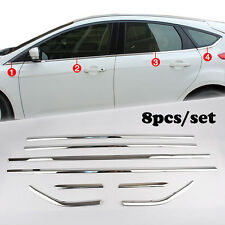 Fit For 12- Ford Focus Hatch Chrome Bottom Window Lining Sill Molding Cover Trim