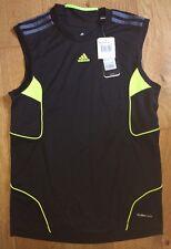 Mens adidas Vest Predator Football Fitness Gym Adipred Uk Small Black (A5)