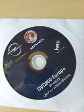 2014/15 Vauxhall DVD800 MY09/10 Sat Nav Disc Map Europe, Insignia, Astra Opel