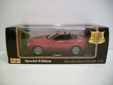 Nice 1:18 Scale Special Edition Red 1996 MERCEDES BENZ SLK 230 Diecast By Maisto