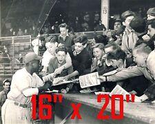 "Jackie Robinson~w/ Fans~Brooklyn Dodgers~16"" x 20"" Photo"