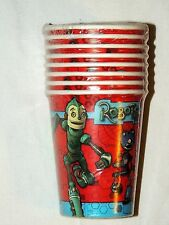 ~~ROBOTS ~VINTAGE  8--PAPER CUPS  9OZ.   PARTY SUPPLIES