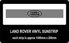 Land Rover sun strip / window banners