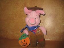 "Winnie The Pooh as Cowboy Western Halloween Pumpkin Costume 2000 Beanbag 9"""