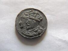 1935 George V Jubileo Estaño/plomo medalla (tamaño del viejo 10P) ref PB10