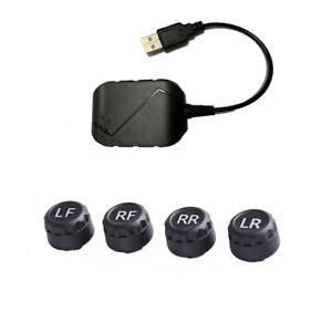 USB Android TPMS External Sensor Car Tire Pressure Monitoring Alarm System