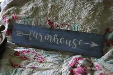 Primitive Olde Farmhouse Wood Sign Country Folk Art Decor