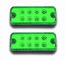 2 x 12V 8SMD LED GREEN SIDE MARKER LIGHTS FOR IVECO MAN SCANIA VOLVO DAF RENAULT