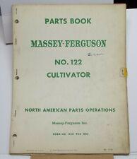 1959 Parts Book Massey Ferguson Cultivator No 122 Garden Farming Tractors