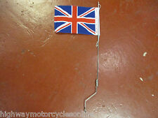 "VESPA PX 125 200 UNION JACK FLAG POLE AERIAL WITH LOOP FITTING 22"" LONG"