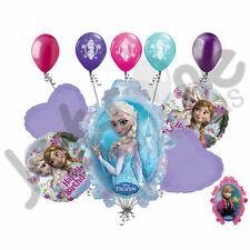 10 pc Disney Frozen Happy Birthday Balloon Bouquet Party Decoration Elsa Anna