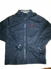 RALPH LAUREN NEW BOYS HOODED JACKET L 14 16 LINED LONG SLEEVE BLUES SOLID NWOT