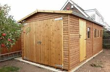 QUALITY CUSTOM MADE 30 X 12 WOODEN T&G LOGLAP GARAGE WORKSHOP