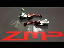 YAMAHA RAPTOR 660 01 - 05 F3 SHORTY ASV CLUTCH AND BRAKE LEVERS RED PAIR PACK