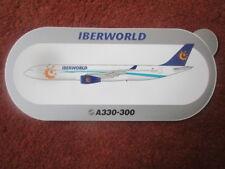 AUTOCOLLANT STICKER AUFKLEBER AIRBUS A330-300 IBERWORLD AIRLINE ESPAGNE SPAIN