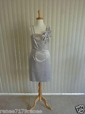 JIGSAW Silver Tulip Satin Shift Dress Size 8 RRP $329 BNWT!! FREE POST