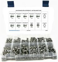 Stainless Steel Button Head Socket Cap Screw Assortment Kit with Nuts & Washers