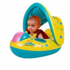 Bouée bateau gonflable avec protection solaire bébés Enfants matelas piscine ...