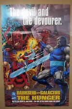 1995 DC/Marvel Darkseid VS Galactus The Hunger Promo Advert Wall Poster 22x34""