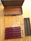 Vintage Bakelite E.S. Lowe Mah Jong Set, 154 Tiles, 118 chips, Original Case