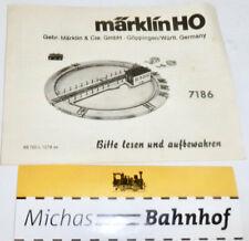7186 Manual de Instrucciones Märklin 68 702L 1278 Se H0 Å