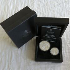 2012 EAST INDIA CO ST HELENA & ASCENSION .999 SILVER 2 COIN SET - complete