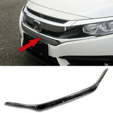 Chrome Front Grill Grille Upper Trims Trim For Honda 10th Civic 2016 2017 2018